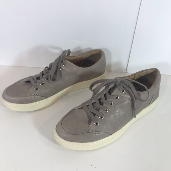 Sofft Shoes | Gray Leather Sneakers